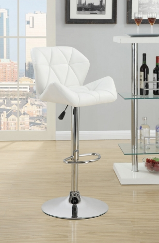 Rec Room Adj. Stool - White/Chrome