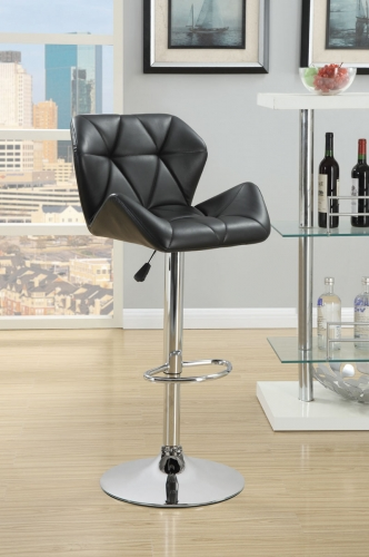 Rec Room Adj. Stool - Black/Chrome