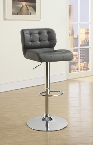100545 Adjustable Bar Stool - Chrome/Grey
