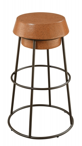 100906 Bar Stool - Brown Cork