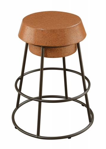 100907 Counter Height Stool - Brown Cork