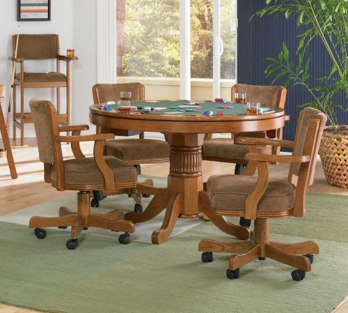Din Set Mitchell One Game Table Set Oak