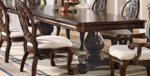 Tabitha Dark Pedestal Dining Table