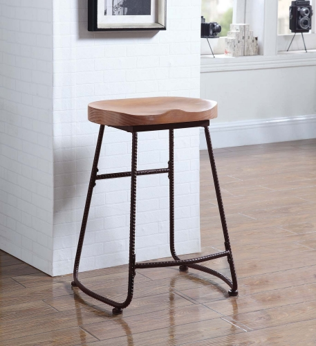 101085 24 Inch Counter Height Stool - Dark Bronze