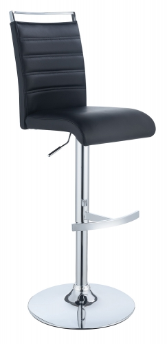 101145 Adjustable Bar Stool - Black/Chrome