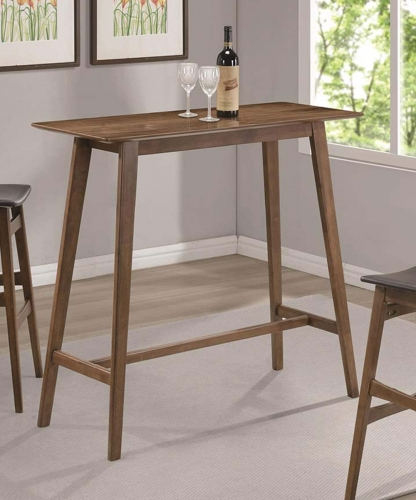 101436 Rectangular Bar Table - Walnut