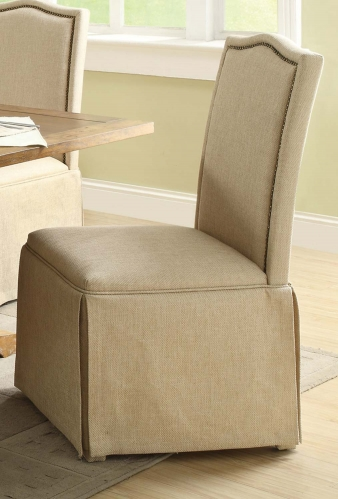 Parkins Parson Chair with Skirt - Coffee