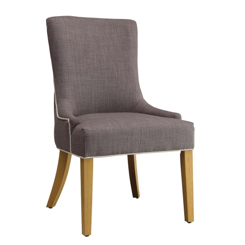 104566 Side Chair - Grey/White Woven