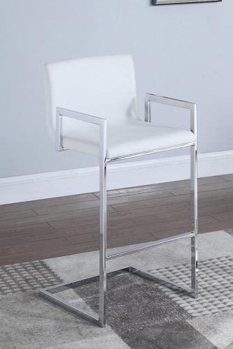 104875 Bar Stool - White/Chrome