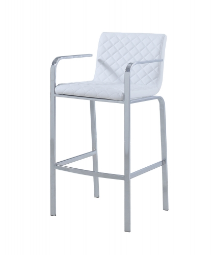 104877 Bar Stool - White/Chrome