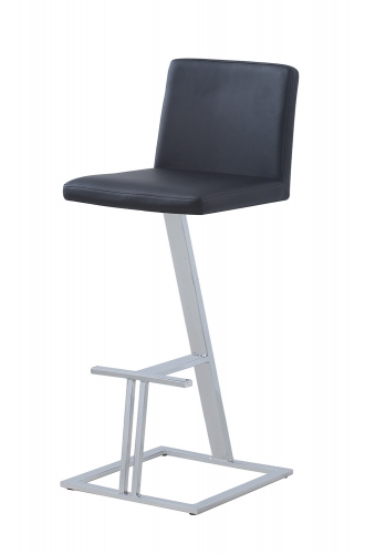 104878 Bar Stool - Black/Chrome