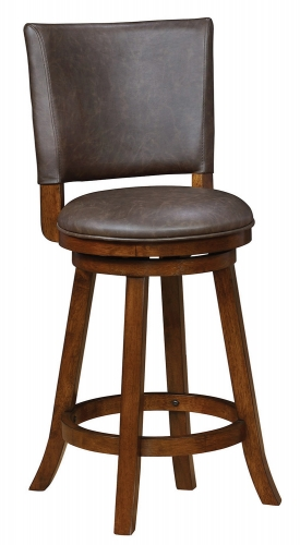 104895 Swivel Bar Stool - Brown/Chestnut