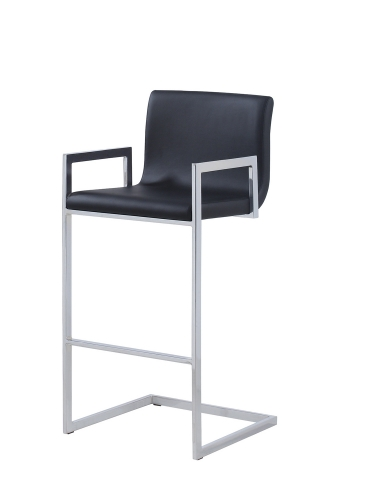 104916 Bar Stool - Black/Chrome