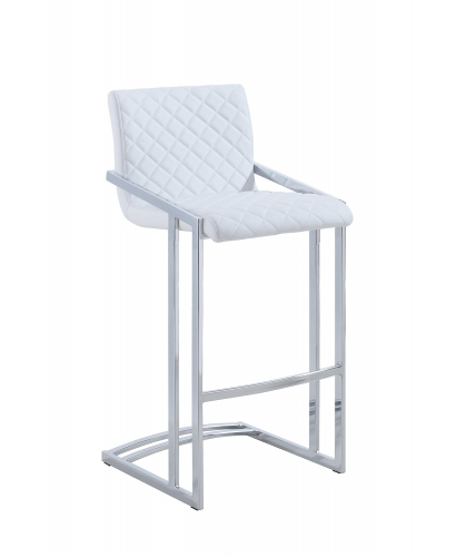 104917 Bar Stool - White/Chrome