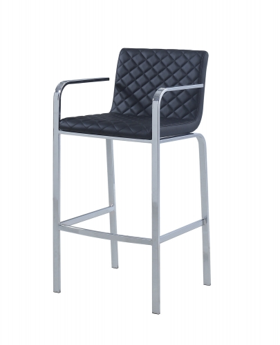 104918 Bar Stool - Black/Chrome