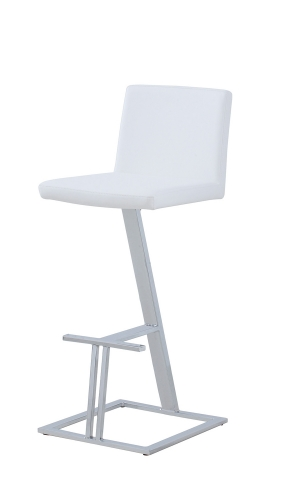 104919 Bar Stool - White/Chrome