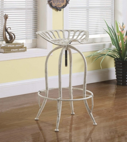 104947 Bar Stool - Antique White