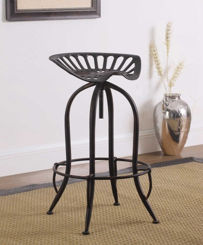 104949 Bar Stool - Black Brushed with Clopper