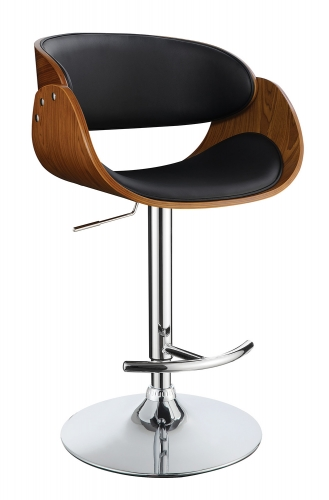 104965 Adjustable Bar Stool - Black/Walnut