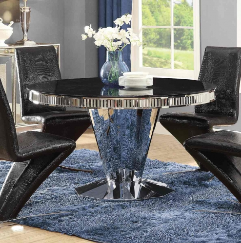Barzini Round Dining Table - Stainless Steel