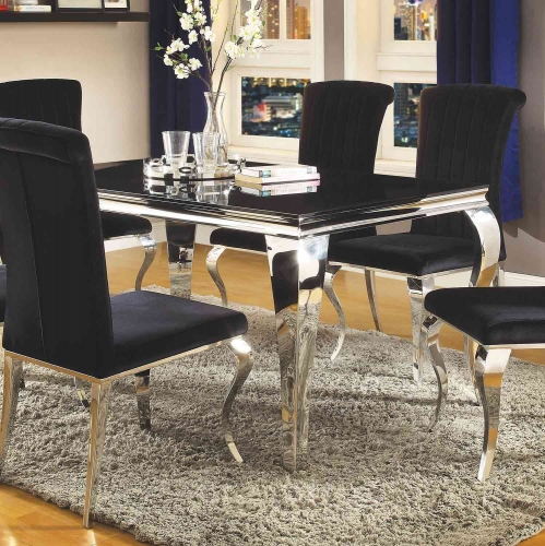 Carone Rectangular Dining Table - Metal