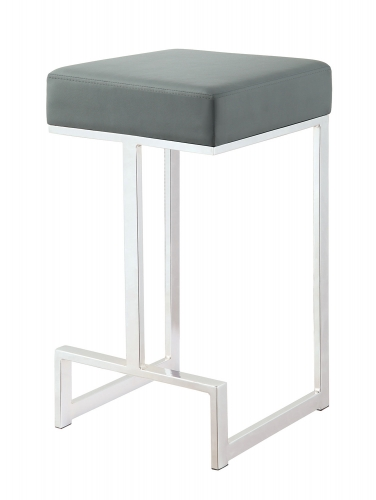 105252 Counter Stool - Chrome/Grey