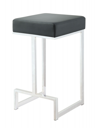105253 Counter Stool - Chrome/Black