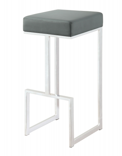 105262 Bar Stool - Chrome/Grey