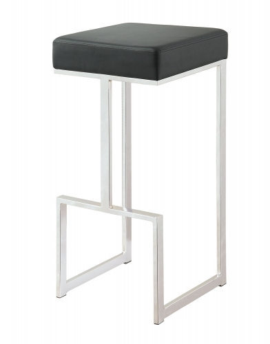 105263 Bar Stool - Chrome/Black
