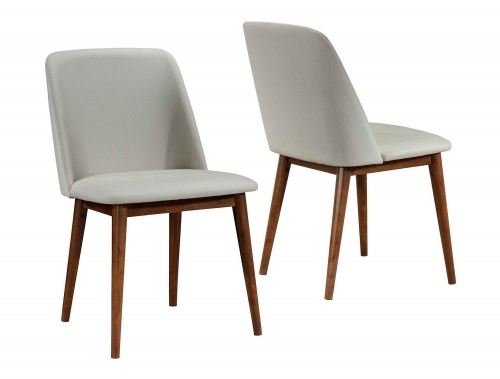 Barett Side Chair - Chestnut/Tan Fabric