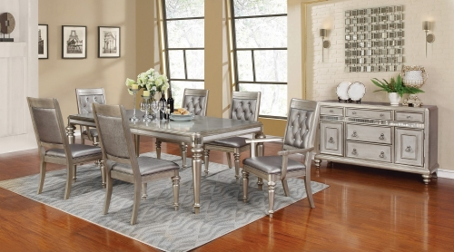 Danette Dining Set - Metallic Platinum