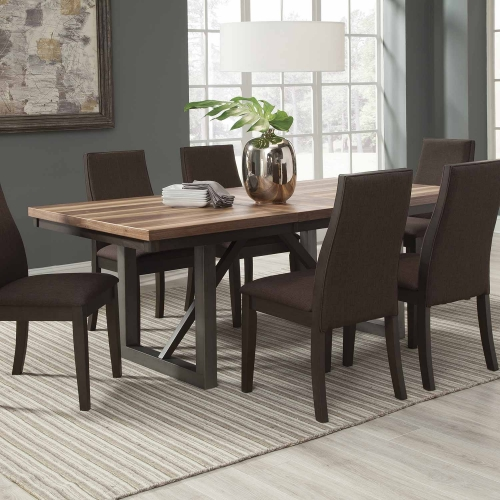 Spring Creek Rectangular Dining Table with Leaf - Natural Walnut