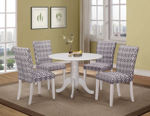 Allston Round Dining Set - White