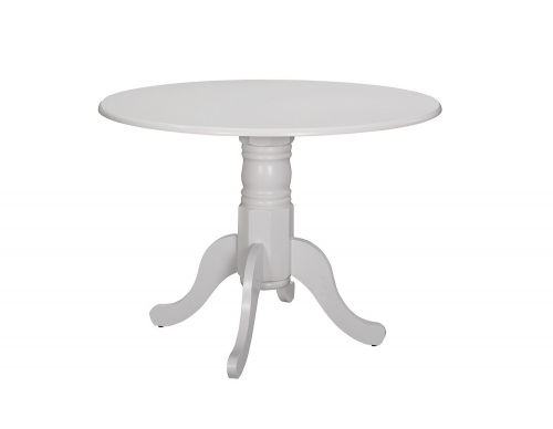 Allston Round Dining Table - White