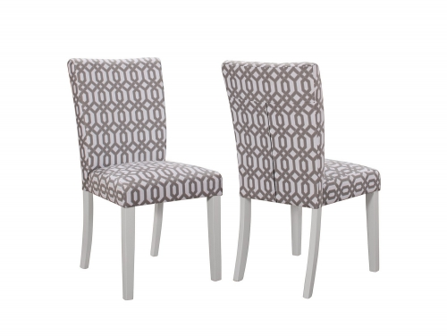 Allston Side Chair - White/Bold Graphic Grey and White Fabric