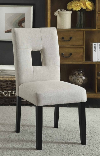 Andenne Dining Chair - Beige/Black