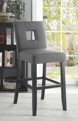 Andenne Counter Height Chair - Grey/Black