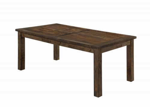 Coleman Rectangular Dining Table - Rustic Golden Brown