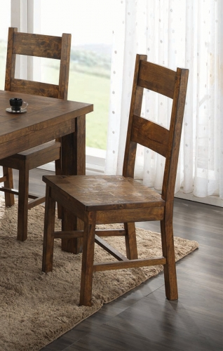 Coleman Dining Side Chair - Rustic Golden Brown