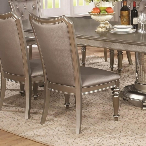 Danette Side Chair - Metallic Platinum