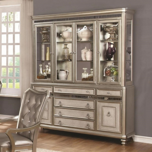 Danette China Cabinet - Metallic Platinum