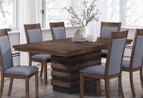 Octavia Rectangular Dining Table with Leaf - Coffee/Sappy Walnut