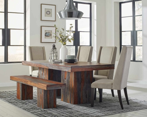 Binghamton Dining Set - Grey Sheesham/Granite