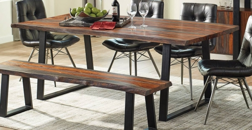 Jamestown Live Edge Dining Table - Grey/Black