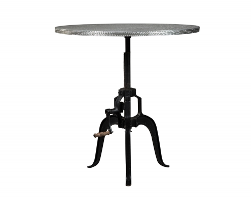 Rhea Metal Crank Table - Black/Zinc