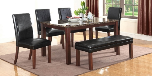 Otero Dining Set - Dark Brown/Black