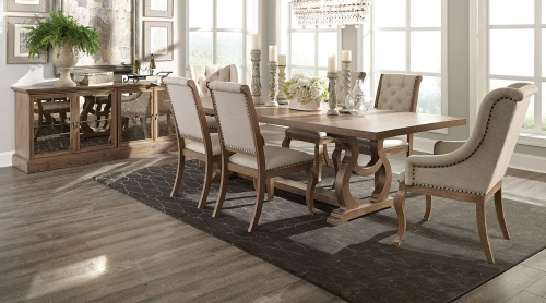 Glen Cove Dining Set - Barley Brown