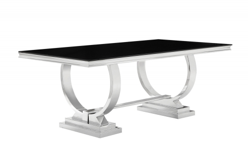 Antoine Dining Table - Chrome