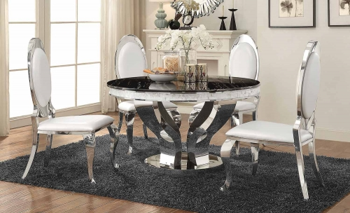 Anchorage Round Dining Set - Chrome