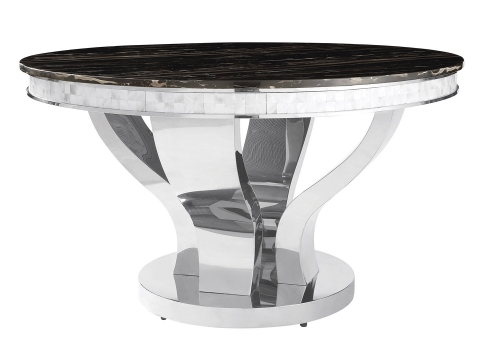 Anchorage Round Dining Table - Chrome